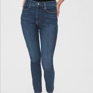 GAP True Skinny Super High Rise Jean Ankle Zipper